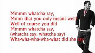 Jason Derulo - Whacha Say Lyrics