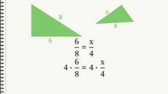 Wie berechnet man die Seitenlängen von ähnlichen Dreiecken?