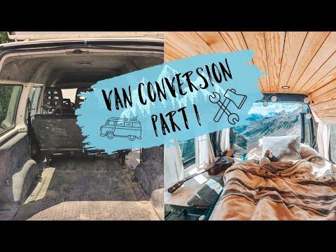 D.I.Y MINI-VAN ausbau, der Perfekte mini Camper / so Bauen wir unser kleines Heim  / Teil 1 Vlog #16