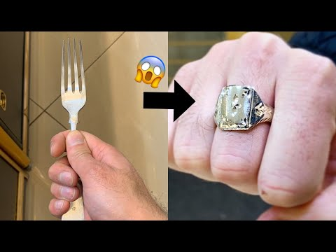 Wow! Making A Ring From A Fork!! Unique Jewelry Making | Making A Ring | How It's Made | 4K Video