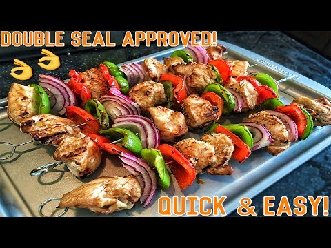 High Protein Bodybuilding Grilled Chicken Skewers | Easy Healthy Recipe