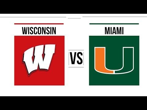 2018 Pinstripe Bowl Miami vs Wisconsin Full Game Highlights