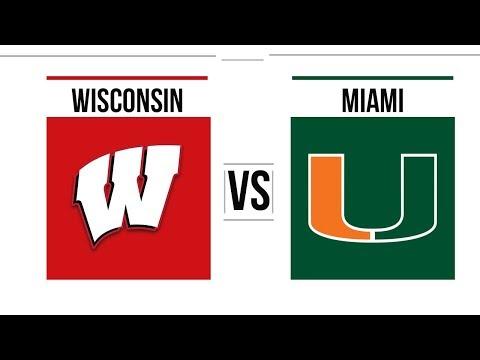 2018 Pinstripe Bowl Miami vs Wisconsin Full Game Highlights