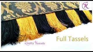 New Style Double Colour Saree Kuchu | Saree Tassels Using Only Silk Thread | www.knottythreadz.com