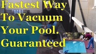 Fastest Easy Way To Sweep & Vacuum Swimming Pool | Dirt & Alga…