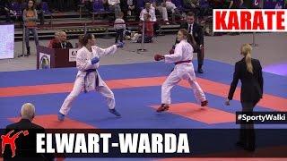 MP Karate WKF: Elwart Sara vs Warda Kamila (Kumite Indywidualne Kobiet -61 KG)