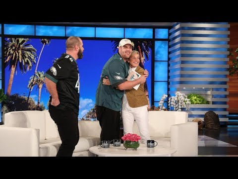 Ellen & Jon Dorenbos Surprise an Inspiring Philadelphia Eagles Fan