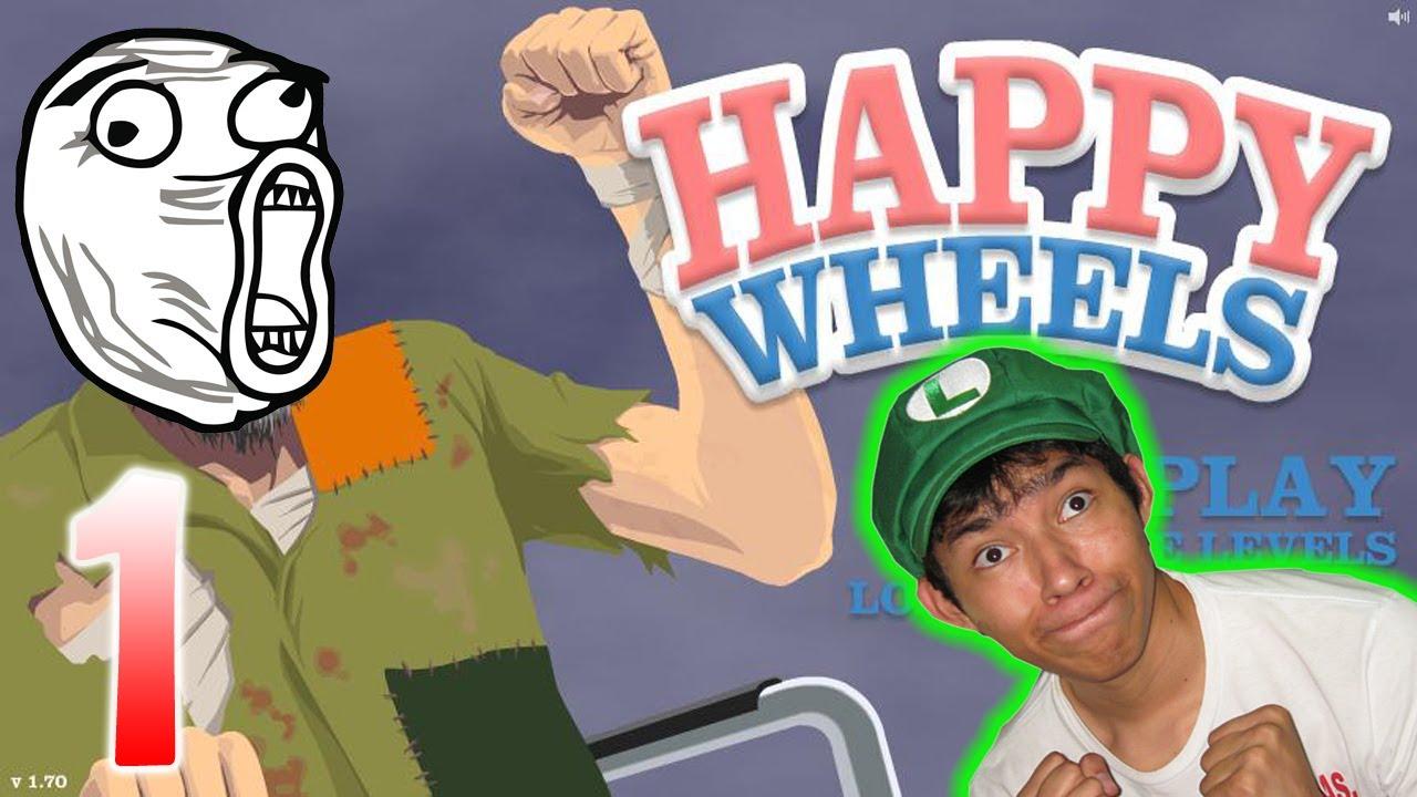 Juguemos Happy Wheels Sangre Sangre Y Mas Sangre Youtube