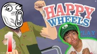 Juguemos Happy Wheels // Sangre, Sangre y mas Sangre !!!