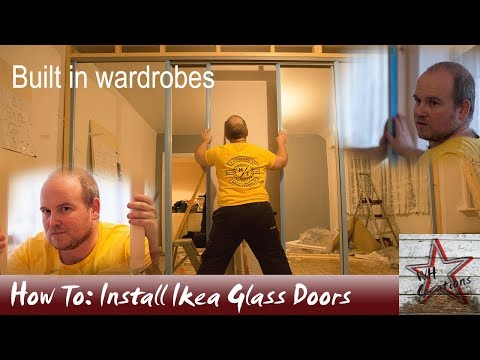 Building Wardrobes Using Ikea Sliding Glass Doors For The Bedroom
