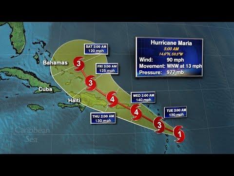 Hurricane Jose and Maria latest track 6 a.m. 9/18/17