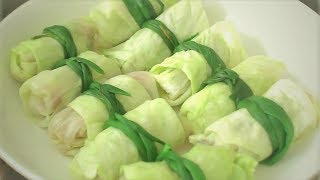 How to make ROLLED CABBAGE WITH PORK | Cách làm BẮP CẢI CUỘN THỊT |  MintaKitchen