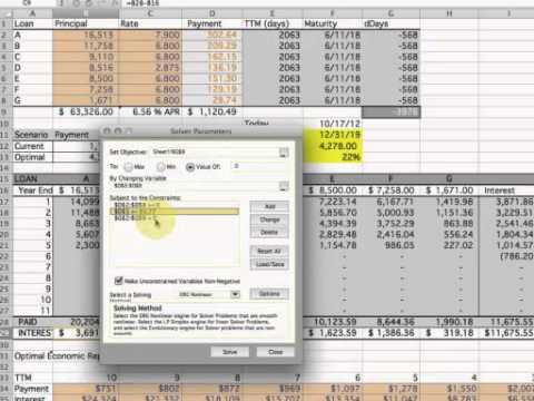Multiple Loan Repayment Optimization