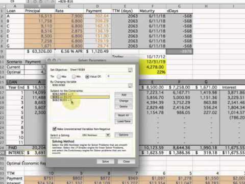 multiple loan repayment calculator excel