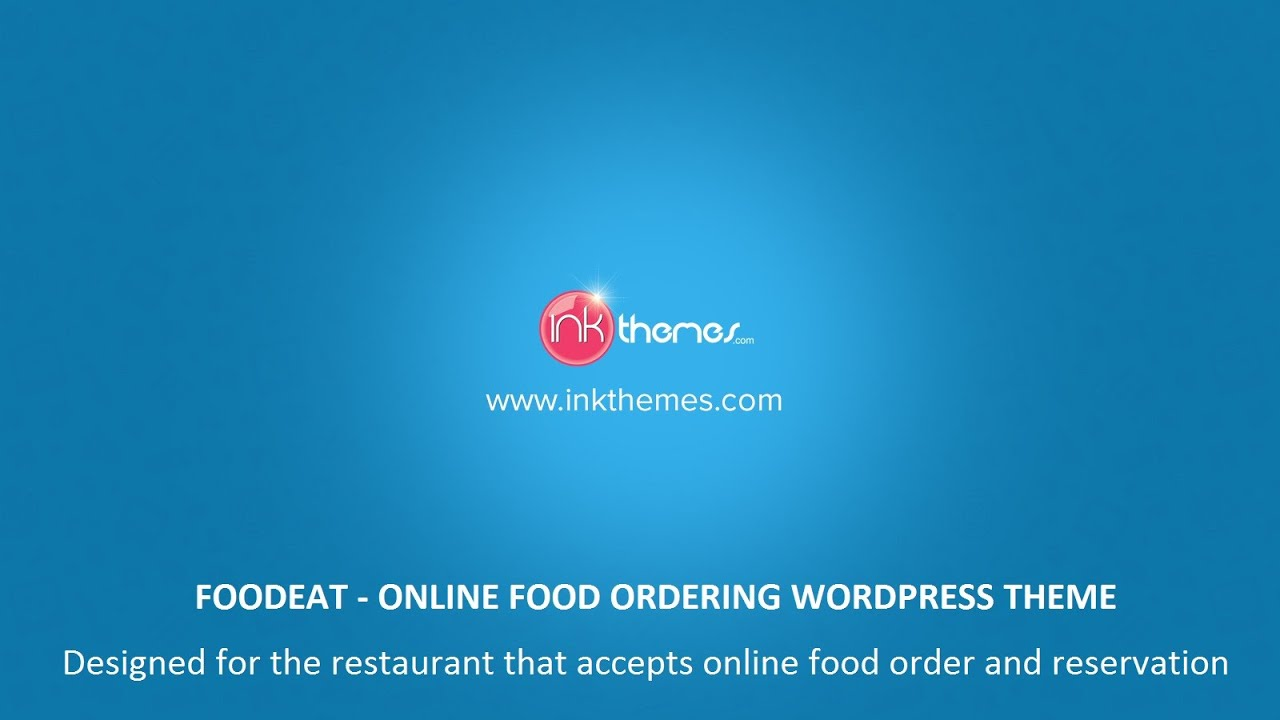 Online Food Ordering WordPress Theme - YouTube