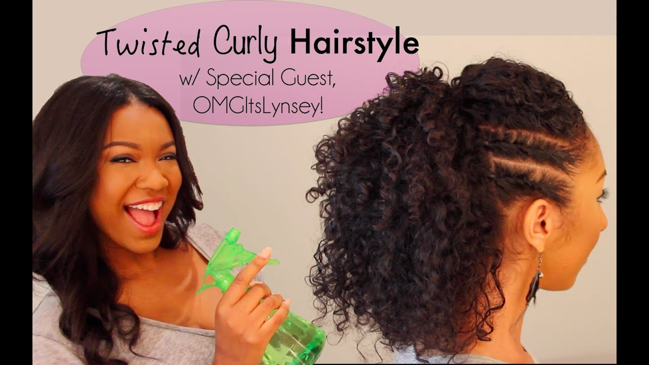 Twisted Curly Hairstyle Tutorial w/ Special Guest, OMGitsLynsey ...