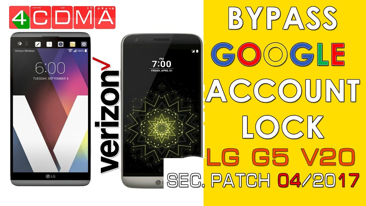 LG G5 V20 Verizon Google Account Bypass | Android 7 | April Patch