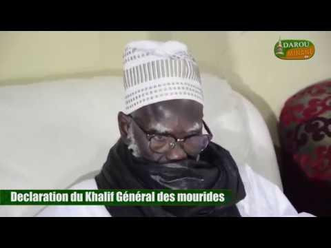urgent Declaration du khalif general des mourides Le 14 Janvier 2018