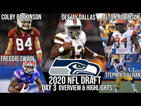 Seattle Seahawks 2020 NFL Draft Picks (Day 3) - 2020 NFL Draft (Alton Robinson, Deejay Dallas, Etc)