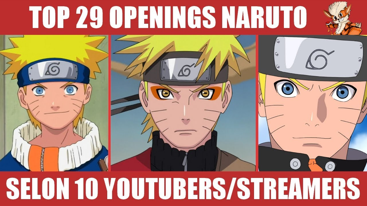 TOP 29 Openings de Naruto & Shippuden (ft  Kameto, Jeel, Dach,    )