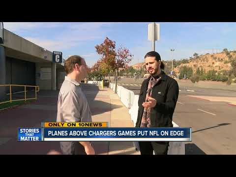 NFL 'freaked out' over planes above Chargers games