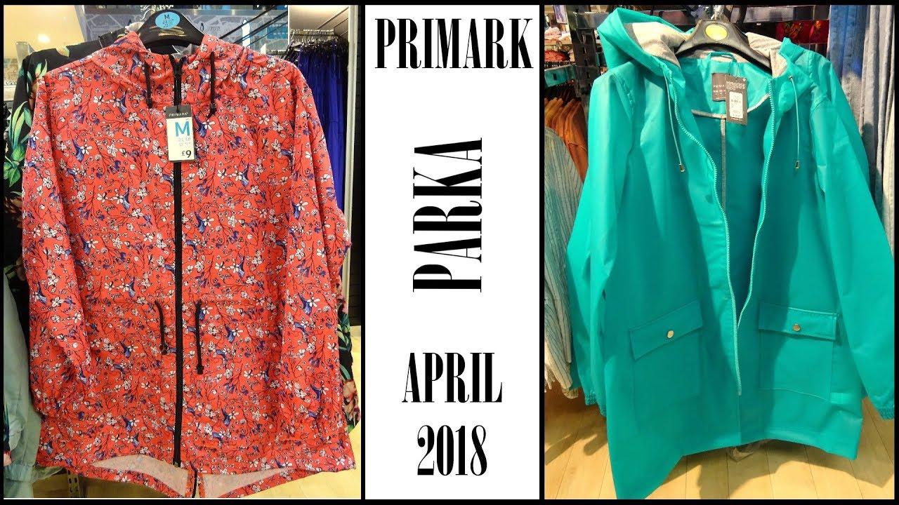 Primark Ladies Parka Rain Coat Spring Summer 2018 ...