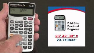 Construction Master Pro DT D:M:S to Decimal Degrees How To