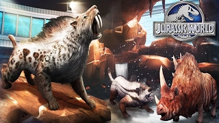 Jurassic World The Game | New Dinosaurs Cenozoic creatures New Woolly Mammoth Arena!