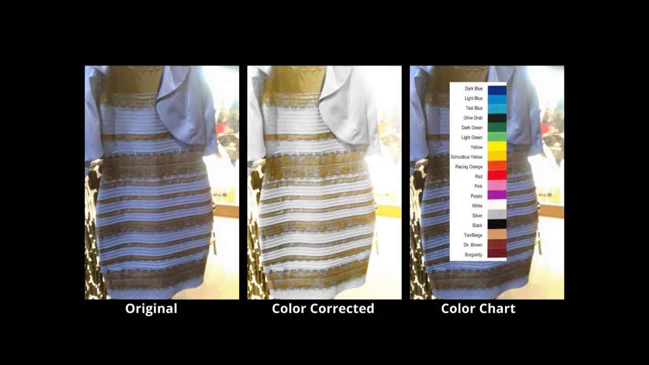 Blue And Black Dress Vs White And Gold Dress Youtube