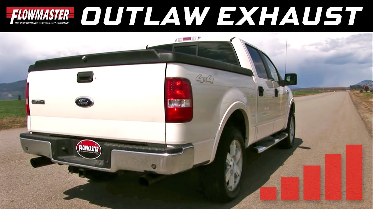 2004 08 Ford F 150 V8 Flowmaster Outlaw Cat Back Exhaust System 817696