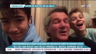 Dan Bittman si-a lasat afacerea de jumatate de milion de euro pe mainile fiului sau