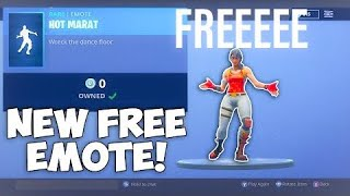 FREE HOT MARAT EMOTE IN FORTNITE (IT IS FREE?)