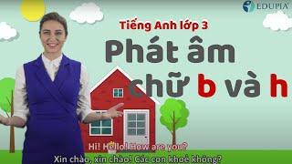 Học tiếng anh lớp 3 Unit 1: Hello - Phonics: Phát âm chữ 'b' /b/ và chữ 'h' /h/