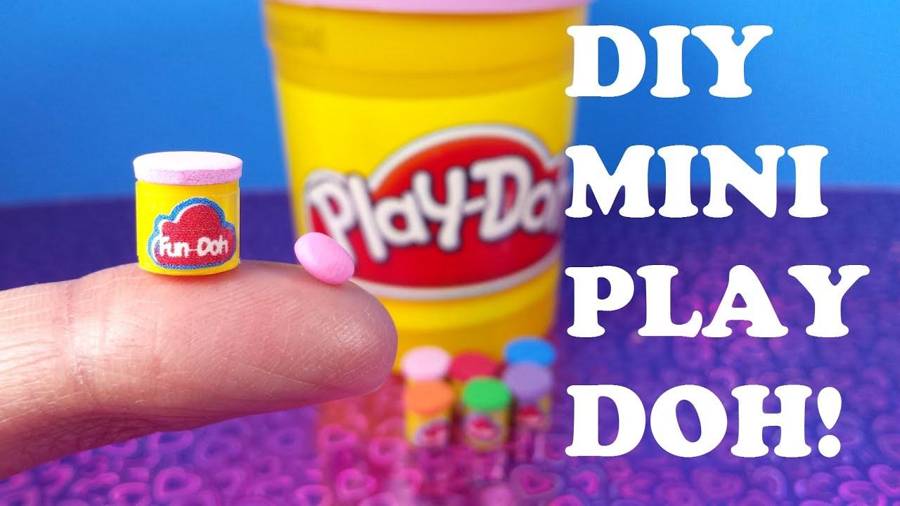 Diy Miniature Play Doh Youtube