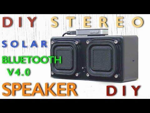 DIY Stereo Solar Bluetooth Speaker System