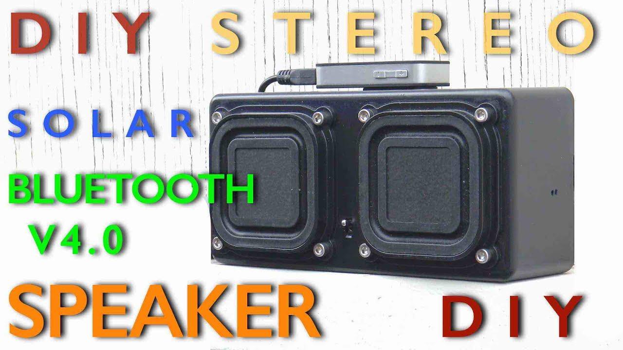 DIY Stereo Solar Bluetooth Speaker System - YouTube