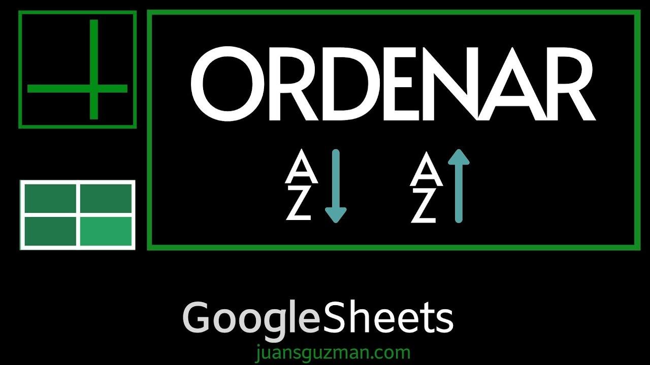 Download Todas las formas de ordenar listas, tablas y datos en Google Sheets