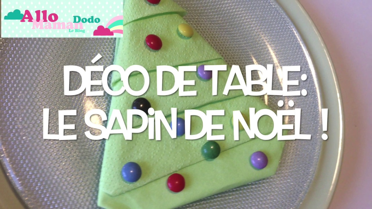 Deco serviette table noel