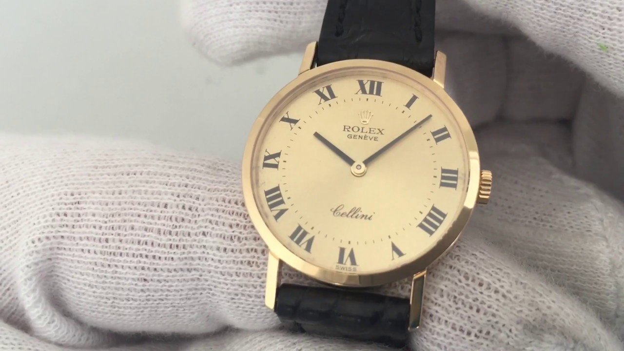 Rolex Damenuhr Rolex Cellini Classic Lady Watch Gold Uhr Ref 4109 Kaliber 1601 Calibre 1601 Damenuhr