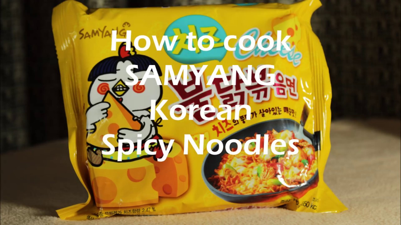How To Cook Samyang Korean Spicy Noodle Cheese Youtube