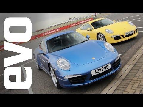 Porsche 911 Carrera 4S v Carrera 2S   evo TRACK BATTLES