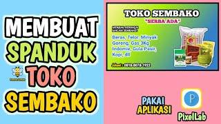 Cara Membuat Spanduk Toko Sembako Youtube