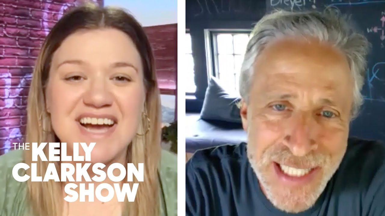 Jon Stewart Quizzes Kelly Clarkson On Moment She Knew She Could Really Sing