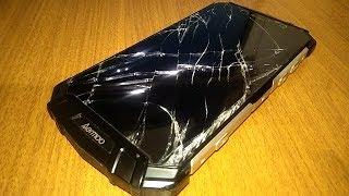 Как за 1 секунду разбить смартфон за 380$. Жёсткие краш-тесты  нового защищённого смартфона Aermoo