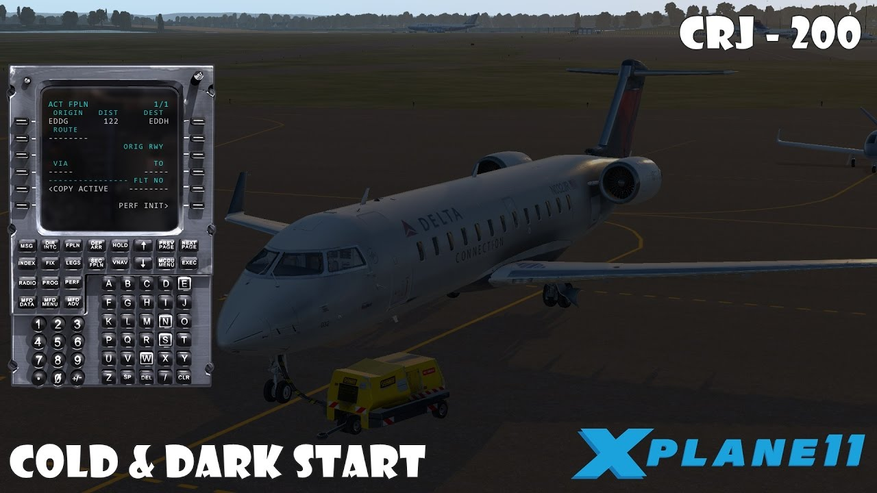 X Plane 11 Erste Schritte #CRJ-200 Part 1 (Cold & Dark Start)[German]
