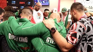 'WHEN GOD IS WITH ME - WHO CAN BE AGAINST ME' - TYSON FURY LEADS TEAM PRAYER BEFORE OTTO WALLIN BOUT