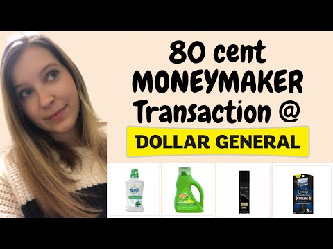 Dollar General - An 80 CENT MONEYMAKER Transaction For Saturday!
