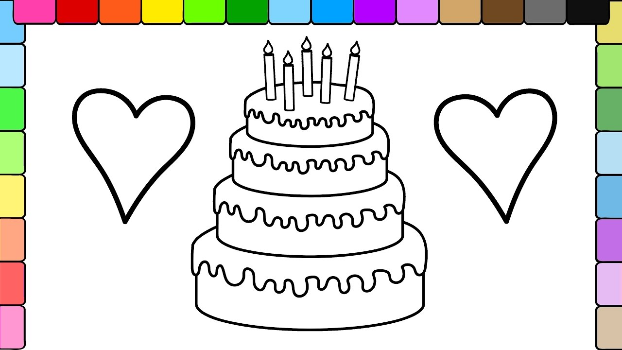 Learn To Colors For Kids And Color Stripe Birthday Cake