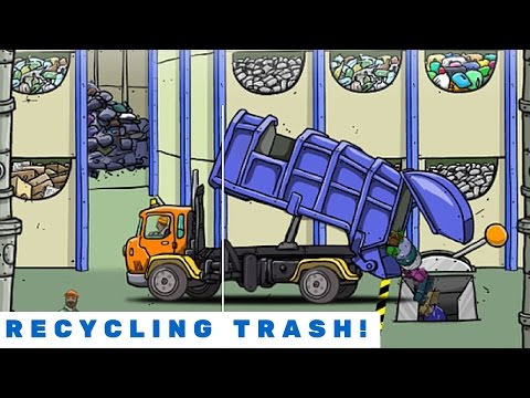 Recycling Trash With The Garbage Truck!