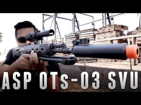 ASP OTs-03 SVU AEG Sniper Rifle [The Gun Corner] Airsoft Evike.com